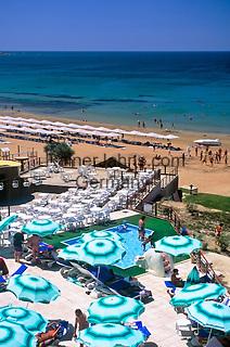 Turkey, Province Antalya, Side: holiday resort and harbour at Mediterranean Sea, Club Melas: Pool