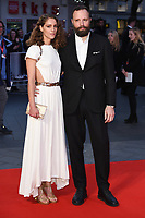 """director, Yorgos Lanthimos and wife, Arianne Labed<br /> arriving for the London Film Festival 2017 screening of """"Killing of a Sacred Deer"""" at Odeon Leicester Square, London<br /> <br /> <br /> ©Ash Knotek  D3332  12/10/2017"""