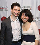 """Matthew Cohen and Zhenni Li attends the Opening Night Celebration for Ensemble for the Romantic Century Off-Broadway Premiere of<br />""""Maestro"""" at the West Bank Cafe on January 15, 2019 in New York City."""