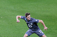 ST PAUL, MN - OCTOBER 18: Ethan Finlay #13 of Minnesota United FC celebrates a goal during a game between Houston Dynamo and Minnesota United FC at Allianz Field on October 18, 2020 in St Paul, Minnesota.
