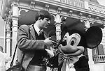 Photographer Ron Bennett and Mickey Mouse at Disneyland amusement park Anaheim California dedicated July 17 1955, Fine Art Photography by Ron Bennett, Fine Art, Fine Art photography, Art Photography, Copyright RonBennettPhotography.com ©