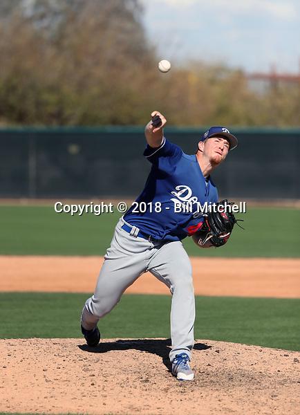 Josh Sborz - Los Angeles Dodgers 2018 spring training (Bill Mitchell)