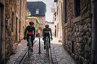 small town crossing in the Eifel National Park / High Venn Nature Park in North Rhine-Westphalia, Germany<br /> <br /> over the Dirty Boar Gravel Ride parcours