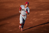 Clearwater Threshers right fielder Jan Hernandez (3) rounding the bases after hitting a home run in the top of the fourth inning during a game against the Bradenton Marauders on July 24, 2017 at LECOM Park in Bradenton, Florida.  Bradenton defeated Clearwater 6-3  (Mike Janes/Four Seam Images)