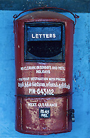 INDIA, letter box of Indian Mail