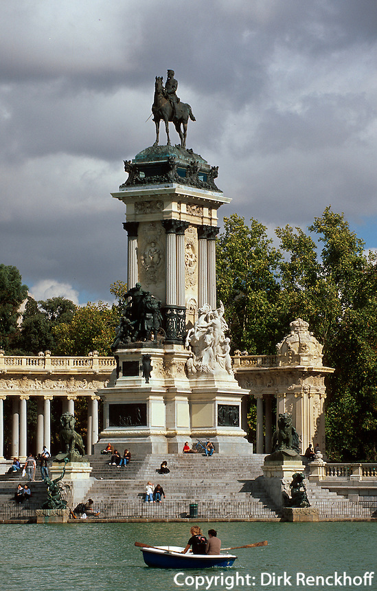 Spanien, In Retiro-Park in Madrid