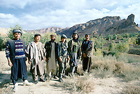 Mercenary of the warlord Ahmad Shah Massoud running a way from Bamiyan after a defeat from the local Hazara Mujahedins of Karim Kalili of the Hezb e Wahdat Islami. Hazarajat, Afghanistan.