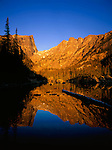 Dream Lake and Hallett Peak in Rocky Mountain National Park, Estes Park, Colorado, USA .  John leads private photo tours throughout Colorado. Year-round Colorado photo tours.