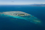 Aerial view of the Great Barrier Reef of Green Island