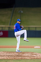AZL Cubs relief pitcher Eugenio Palma (86) delivers a warmup pitch during a game against the AZL Brewers on August 6, 2017 at Sloan Park in Mesa, Arizona. AZL Cubs defeated the AZL Brewers 8-7. (Zachary Lucy/Four Seam Images)