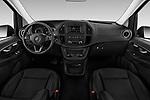 Stock photo of straight dashboard view of a 2019 Mercedes Benz Metris Base 5 Door Combi