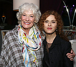 """Betty Buckley and Bernadette Peters backstage after """"Stigma"""" on September 9, 2018 at the Green Room 42 in New York City."""