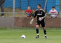 Pictured: Jose Moreira, goalkeeper for Swansea. Saturday 17 July 2011<br />