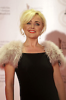 12/2/11 Angelina Ball on the red carpet at the 8th Irish Film and Television Awards at the Convention centre in Dublin. Picture:Arthur Carron/Collins