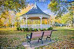 Autumn color at the Dennis bandstand, Dennis, Cape Cod, MA