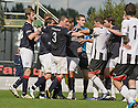 07/08/2010   Copyright  Pic : James Stewart.sct_jsp015_falkirk_v_dunfermline  .::  FALKIRK'S THOMAS SCOBBIE PULLS BACK MARK MILLAR AS PLAYERS GET INVOLVED AFTER HIS CHALLENGE ON WULLIE GIBSON ::  .James Stewart Photography 19 Carronlea Drive, Falkirk. FK2 8DN      Vat Reg No. 607 6932 25.Telephone      : +44 (0)1324 570291 .Mobile              : +44 (0)7721 416997.E-mail  :  jim@jspa.co.uk.If you require further information then contact Jim Stewart on any of the numbers above.........