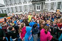 Baarn, The Netherlands, 14-03.2014.  Kickoff Open Tennis Dagen in de voortuin van Paleis Soestdijk<br /> Photo:Tennisimages/Henk Koster