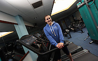 Pictured: Chloe at the gymnasium. Friday 26 September 2014<br /> Re: Cardiff and Vale College, Trowbridge Campus, Cardiff, south Wales.