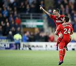 Ian Black celebrates his goal with Darren McGregor
