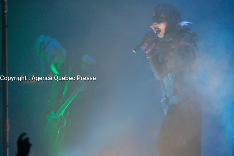 Marylin Manson en spectacle, 15 novembre 2004<br /> <br /> PHOTO :  Agence Québec Presse