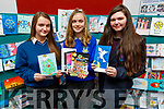 Michaela Harrington, student of Causeway Comprehensive School took 2nd place, Katie O'Connor from the Castleisland Community College, winner of the Kerry ETB Christmas Card Competition, and Coláiste Gleann Lí student Shania O'Brien took 3rd place at the ETB Offices in Centrepoint, Tralee on Friday.
