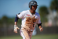 Jasiah Dixon during the WWBA World Championship at the Roger Dean Complex on October 21, 2018 in Jupiter, Florida.  Jasiah Dixon is an outfielder from Riverside, California who attends Orange Lutheran High School and is committed to Southern California.  (Mike Janes/Four Seam Images)
