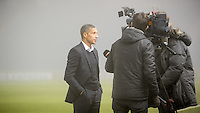 Chris Hughton Manager of Brighton & Hove Albion interviews after Friday's Championship game between leaders Brighton & Hove Albion and Cardiff City has been postponed because of heavy fog. Sky Bet Championship match between Brighton and Hove Albion and Cardiff City at the American Express Community Stadium, Brighton and Hove, England on 30 December 2016. Photo by Edward Thomas / PRiME Media Images.