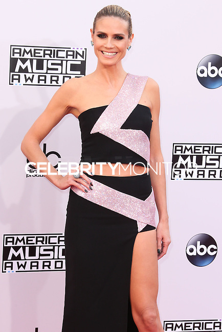 LOS ANGELES, CA, USA - NOVEMBER 23: Heidi Klum arrives at the 2014 American Music Awards held at Nokia Theatre L.A. Live on November 23, 2014 in Los Angeles, California, United States. (Photo by Xavier Collin/Celebrity Monitor)