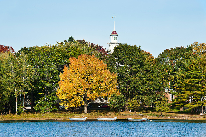 South Congregational Church and Kennebunkport park, ME