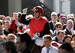 10 October 03: Gentoo (no. 7), ridden by Gerald Mosse and trained by Alain Lyon, wins the group 1 Prix du Cadran for four year olds and upward at Longchamp Racecourse in Paris, France.  (Bob Mayberger/Eclipse Sportswire)