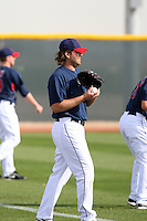 Chris Perez. Cleveland Indians spring training workouts at their complex in Goodyear, AZ - 03/06/2010.Photo by:  Bill Mitchell/Four Seam Images.