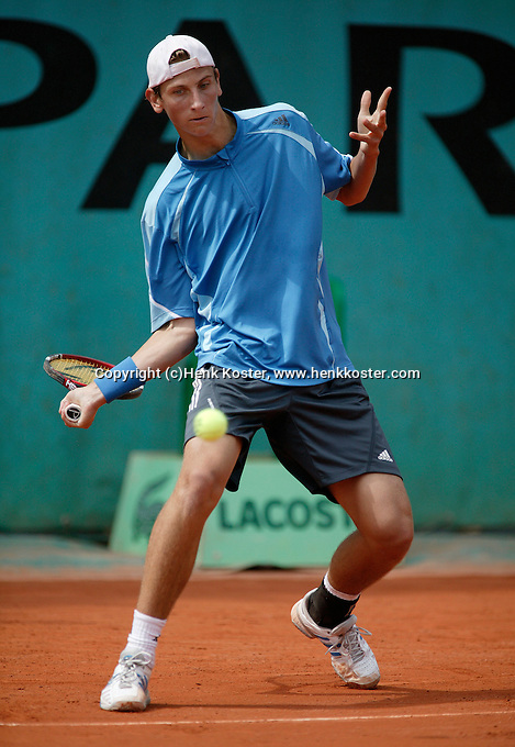 4-6-06,France, Paris, Tennis , Roland Garros, Thiemo de Bakker