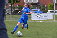 Jorien Voets (20) of KRC Genk pictured during a female soccer game between Sporting Charleroi and Eendracht Aalst on the 8th matchday in play off 2 of the 2020 - 2021 season of Belgian Scooore Womens Super League , tuesday 18 th of May 2021 in Marcinelle , Belgium . PHOTO SPORTPIX.BE | SPP | STIJN AUDOOREN