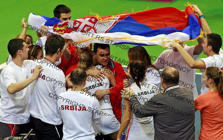 Dejan Vranes, serbian team captain Fed Cup Serbia vs Canada, World group II, first round, Novi Sad, Serbia, SPENS Sports Center, Sunday, February 06, 2011. (photo: Srdjan Stevanovic)(credit image & photo: Pedja Milosavljevic / +381 64 1260 959 / thepedja@gmail.com )