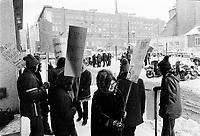ARCHIVE -<br /> <br /> Greve a l'UQAM, <br /> 30 Janvier 1973<br /> <br /> <br /> Photo : Agence Quebec Presse  - Alain Renaud