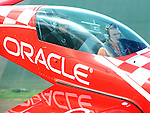 Sean D. Tucker gives a media ride to a reporter from ABC6 in Columbus on June 15, 2016 at the Vectren Dayton Air Show.