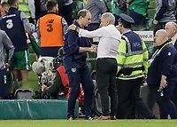Dublin, Ireland - Saturday June 02, 2018: Martin O'Neill, Dave Sarachan during an international friendly match between the men's national teams of the United States (USA) and Republic of Ireland (IRE) at Aviva Stadium.