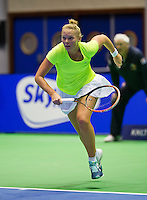 Rotterdam,Netherlands, December 15, 2015,  Topsport Centrum, Lotto NK Tennis, Wheelchair tennis, Kelly Versteeg (NED)<br /> Photo: Tennisimages/Henk Koster