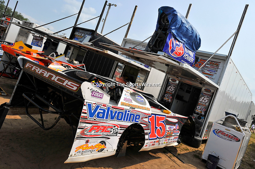 Aug 5, 2010; 3:09:08 PM; New Richmond, WI., USA; The 23rd Annual USA Nationals presented by U.S. Steel Corporation running a 50,000-to-win World of Outlaws Dirt Late Model Series sanctioned event at Cedar Lake Speedway.  Mandatory Credit: (thesportswire.net)