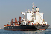 - Iranian oil tanker ship entering in harbor....- nave petroliera iraniana entra in porto