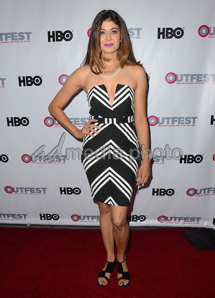 09 July 2015 - Los Angeles, California - Pooja Batra. Arrivals for the 2015 Outfest Los Angeles LGBT Film Festival Opening Night Gala of TIG held at The Orpheum Theater. Photo Credit: Birdie Thompson/AdMedia