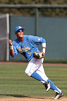 Kevin Williams #5 of the UCLA Bruins in the field during game against the Washington State Cougars at Jackie Robinson Stadium on March 24, 2012 in Los Angeles,California. UCLA defeated Washington 12-3.(Larry Goren/Four Seam Images)