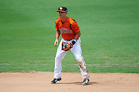 Bowie Baysox shortstop Adrian Marin (1) during the first game of a doubleheader against the Akron RubberDucks on June 5, 2016 at Prince George's Stadium in Bowie, Maryland.  Bowie defeated Akron 6-0.  (Mike Janes/Four Seam Images)