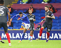26th December 2020; Cardiff City Stadium, Cardiff, Glamorgan, Wales; English Football League Championship Football, Cardiff City versus Brentford; Robert Glatzel of Cardiff City shoots at goal