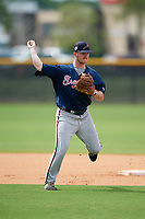 Atlanta Braves Greg Cullen (70) during practice before a Minor League Spring Training game against the New York Yankees on March 12, 2019 at New York Yankees Minor League Complex in Tampa, Florida.  (Mike Janes/Four Seam Images)