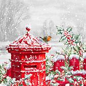 Marcello, CHRISTMAS SYMBOLS, WEIHNACHTEN SYMBOLE, NAVIDAD SÍMBOLOS, paintings+++++,ITMCXM1368A,#xx# #L#,landscape,red robbin