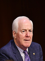United States Senator John Cornyn (Republican of Texas) speaks during a Senate Judiciary Committee business meeting  in the Hart Senate Office Building on Capitol Hill in Washington, DC on October 15, 2020.<br /> Credit: Mandel Ngan / Pool via CNP /MediaPunch