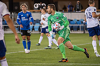 SAN JOSE, CA - MAY 01: Chris Seitz #1 of DC United catches the ball during a game between San Jose Earthquakes and D.C. United at PayPal Park on May 01, 2021 in San Jose, California.
