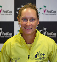 April 15, 2015, Netherlands, Den Bosch, Maaspoort, Fedcup Netherlands-Australia,  Samantha Stosur (AUS)<br /> Photo: Tennisimages/Henk Koster