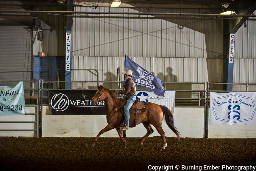 Opening Ceremonies at the Gillette Wyoming High School Rodeo May 13th 2017.  Photo by Josh Homer/Burning Ember Photography.  Photo credit must be given on all uses.